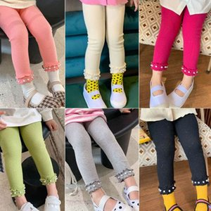 2020 new Autumn pearl girls leggings fashion kids leggings girls tights cotton kids trousers girls trousers kids clothes B2068