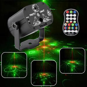60 أنماط RGB أضواء المسرح التحكم الصوتي الموسيقى بقيادة ديسكو حزب ضوء مشاهدة أضواء الليزر العارض تأثير مصباح مع وحدة تحكم
