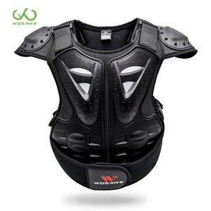 WOSAWE 키즈 오토바이 갑옷 4-16 아이 가드 스포츠 재킷 기어 자전거 스노우 보드 롤러 하키 스키로 돌아 가기 가슴 바디 프로텍터