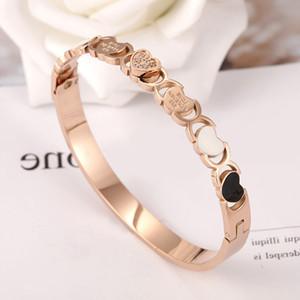 Горячая продажа женщин из нержавеющей стали 316 розовое золото браслет кристаллов высокого качества Bangle браслетов венчания подарка ювелирных изделий