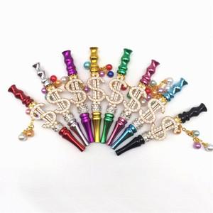 Carta Blunt S suporte Smoke Shishas chapeamento de ouro de cristal embutimento Hookah Dica Pipes portátil fumadores Muti Cores metal 16ml C2