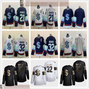 NWT 2020 Uniformi 2021 Hockey su ghiaccio Seattle Kraken Jersey migliore qualità cucito Nome Numero # 23 32th Kraken maglie Size S-XXXL