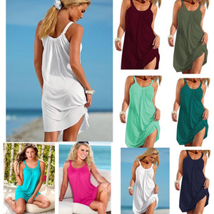 Womens Dress Summer Newest Casual Dress Loose Strap Sexy Suspender Women Beach Dress for Women Multi Colors