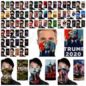 Maschera Trump Face Magic Foulard presidente americano Trump Elezione Bandana esterno antipolvere magica Sciarpa di riciclaggio Copricapo Mascherine del partito RRA3484
