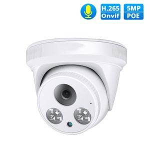 Indoor Surveillance Camera 500mp Hemisphere Network Surveillance H.265 Audio Ceiling Poe Multifunctional Webcam Day and Night