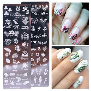 1 шт ногтей Stamping Планшеты Стампер скребок лист Rose Снежинки Nail Art Stamp Шаблоны Рождество Маникюр STZ01-12