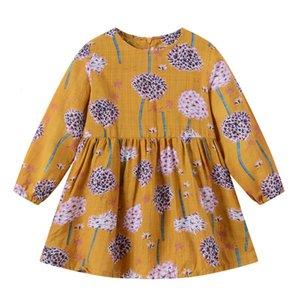 Clearance Excelent New summer Dress Mesh Girls Toddler Baby Kids Girls Long Sleeve Dandelion Flowers Princess Dresses Clothes Z0205