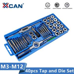 XCAN Tap Die Set 40pcs M3-M12 rosca métrica golpecito de tornillo Llave Die Mano Herramientas de roscado