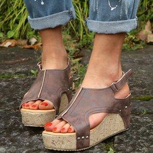 Women Sandals Platform Sandals Wedges Shoes Women Heels Gladiator Sandalias Mujer Summer Peep Toe Wedge Heels 35-43