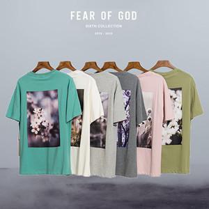 temor de Dios floral mangas cortas flores esencial de la impresión del streetwears hombres de las camisas de verano sweashirts jerséis niebla de fondo camisetas OS moda