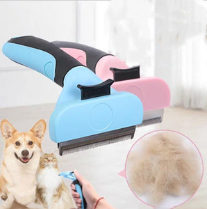Pet Dogs Hair Removal Comb Cat Dog Fur Trimming Dematting Pet Grooming Deshedding Knife Matted Long Hair Curly Comb Grooming Tool LSK751