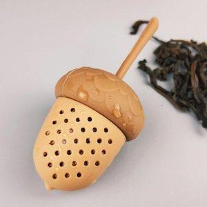 Acorn thé infuseur silicone en forme de gland thé crépines Feuillets Tasse Passoire Coupe Steeper Thé Accessoires LX2745