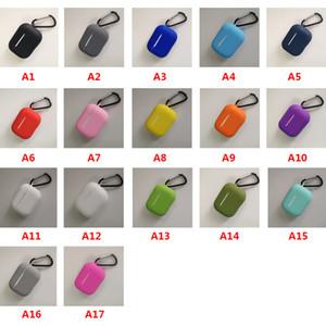 Weicher Silikon-Kasten für AirPods Pro dünne TPU drahtlose Bluetooth-Kopfhörer-Abdeckung für Airpods 1/2 mit Metallhaken
