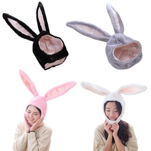 Women Men Funny Plush Ears Hood Hat Eastern Cosplay Costume Accessory Headwear Halloween Party Props