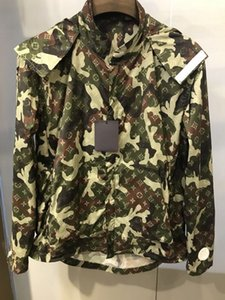 20SS France Dernières coton hommes mode printemps été lettres camouflage Veste de jogging pull femme occasionnels chemise sweat à capuche manteau coupe-vent