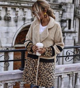 Womens Winter overcoat Thick warm designer Leopard for woman Outerwear wool Sweaters Faux Fluffy Fur Teddy Fleece casual jacket long coats