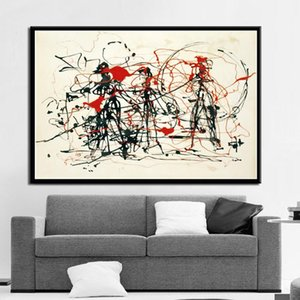 Paintings Art Jackson Pollock Abstract Painting Psychedelic Poster And Prints Canvas Wall Pictures For Living Room Home Decor