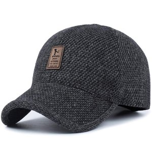 Thickened Ear Fitted Warm Winter Dad Protection Caps Baseball For Snapback Hat Brand Cap Men Cotton 2019 Hats sqceAN ppshop01