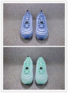 2020 Nouveau sourire gros bleu d'été des hommes blancs verts Manquer d'entraîneurs en plein air des femmes de chaussure de sport avec boîte Accessoires taille 7-11