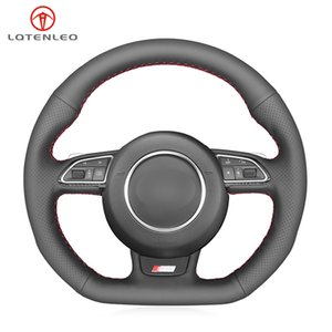 Black Artificial Leather DIY Hand Car Steering Wheel Cover For Audi A5 A7 RS7 S7 SQ5 S6 S5 RS5 S4 RS4 S3 2012-2018