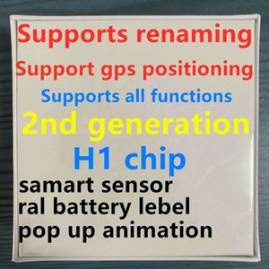 0. H1 auriculares chip GPS Renombrar Aire Ap3 pro Ap2 Tws Gen 2 vainas ventana emergente Bluetooth para auriculares Auriculares automático pelar estuche de carga inalámbrica