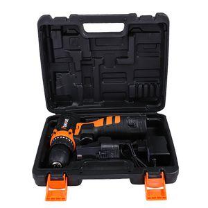 2 Batterie Drill Tournevis électrique à courant continu au lithium-ion rechargeable au lithium électrique sans fil Vitesse 3 8 pouces 12v pilote zXSvx