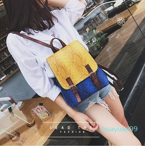 New-casual PU Small Fashion Bags Travelling Bump Women's Bags Backpack Style Cross Body Shoulder Bags
