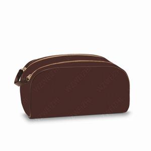 Trasporto libero uomo classico che viaggiano borsa donne di modo WC Wash Bag grande capacità borsa da toilette sacchetti cosmetici make-up Pouch N47527