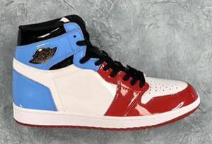 Yeni 1 Yüksek OG Korkusuz Chicago Kırmızı Beyaz UNC Mavi Basketbol ayakkabı erkekler Kadın 1s Korkusuz Spor Snea NakeskinÜrdünRetros Sıcak