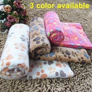 Cama para perros Perros Manta Mats Throw franela para mascotas cama durmiendo cubierta suave terciopelo de la pata Impresión del pie caliente Manta lavable para mascotas Pet EWE914 cama