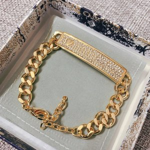 Fashion brand Have stamps diamond designer bracelets for lady women Party wedding lovers gift engagement luxury jewelry With BOX HB0418