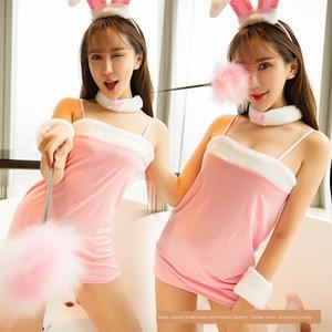 Seksi iç çamaşırı seksi tavşan günaha Er tavşan iç çamaşırı tu sevimli Tu Er üniforma günaha rol oynama gece kulübü üniforma kulaklar YeJRF