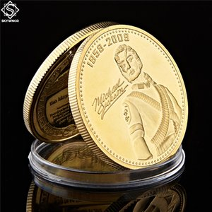 O Rei do Pop Michael Jackson Souvenir Coin banhado a ouro Moeda Comemorativa Annivesary melhor presente