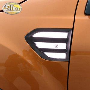 For Ford Ranger 2015 ~ 2019 T7 T8 Side Turn Signal Lamp Fender Light Everest LED DRL Daytime Running Lights