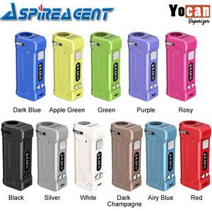 100% Original Yocan UNI Pro VV Box Mod intégré 650mAh batterie avec Vaporizer 10s Préchauffez Fonction Cadran Hauteur ajustable pour les réservoirs