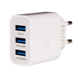 spina del caricatore di potere porta 3,1A alimentazione 3 USB compatibile per il telefono mobile Caricabatteria di alta qualità bianco