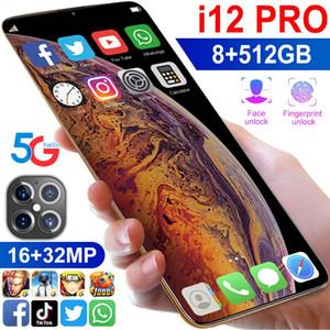 Приграничное горячая модель i12 про Android-смартфон 6,1-дюймовый большой экран мобильного телефона 1 + 8 низкая стоимость питания пятна 4G мобильный телефон