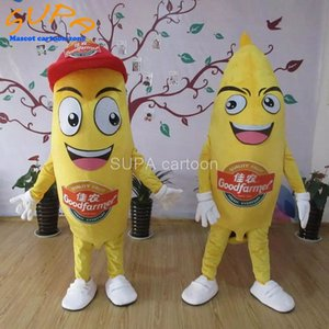 Custom can be washed funny adult fruit banana mascot costume with EVA material for store opening advertising