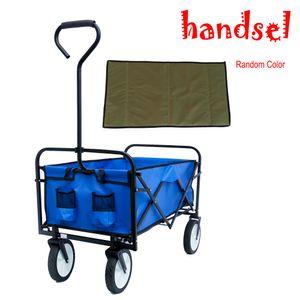 Folding Wagon Garden Shopping Beach Cart (Blue) W22701512