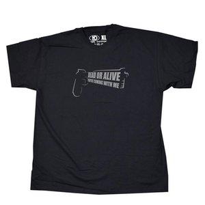 Мертвый или Живой You Are Coming С Me T Shirt Auto 9 Pistol Логотип мужчин футболка