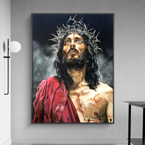 Classical Abstract Portrait of Jesus Canvas Paintings on The Wall Art Posters and Prints Wall Pictures for Living Room Home Decor