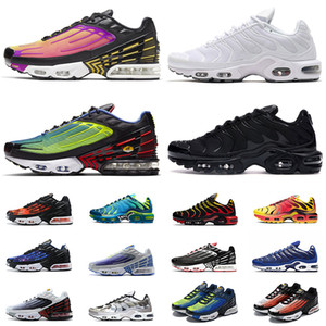 Air Vapormax Plus Tn 3 Jumpman Penny Hardaway Chaussures Hommes Baskets luxe One Chaussures de basket-CRIMSON Elephant Imprimer Knicks Designer taille Sneakers Sport 13