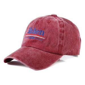 Unisexjustierbares Biden Baseball Cap 2020 Präsident Wahlkampf-Supporter Sonnenschutz Cap Baumwolle bestickt Snapback Cap VT1454