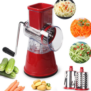 Manual Vegetable Cutter Slicer Kitchen Tools Multi-functional Round Mandoline Slicer Potato Cheese Kitchen Gadgets