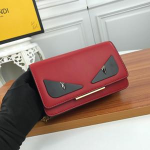 جديدة الإيطالية جودة عالية العلامة التجارية حقيبة يد السيدات حقيبة معدنية سلسلة الماشية والجلود الأعمال الترفيه الموضة حقيبة العين الشحن المجاني