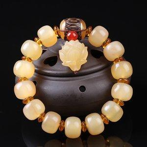 cLmHm tibetano croissants único círculo contas Buddha pulseira talão nacionalidade homens pulseira estilo étnico nacionalidade Buda e mulheres com cr