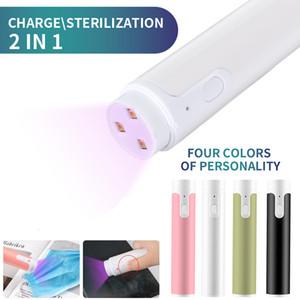 Handheld UVC desinfecção lâmpada 2 em 1 USB Carga Esterilização Lamp viagem ultravioleta Desinfecção Luz domésticos esterilização Luzes