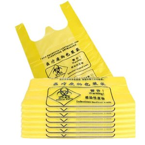 Garbage 500pcs / 100pcs Laboratory Supplies Garbage Bag Experimento Ferramenta Waste Disposal Bag Yellow Hand-Held
