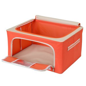 2020 Wholesale Clean 600D Oxford Folding Car Storage Box Bins for Clothing Toys