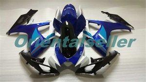 Body For SUZUKI GSX R600 GSX-R750 GSXR-600 GSXR600 06-07 GSX R750 GSXR 600 750 K6 GSXR750 2006 2007 Fairing kit New Factory white blue AD16